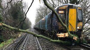 Rail disruption due to Storm Ciara, debris and fallen trees creates havoc