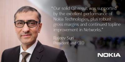 Nokia's Q2 2017 results beat market expectations. CEO's message & outlook for 2017