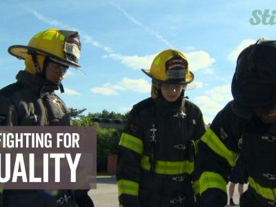 Fire department works on sparking women's interest in becoming firefighters