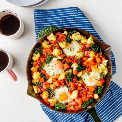 SPONSORED POST: Recipe: Ranch Sweet Potato Skillet with Baked Eggs