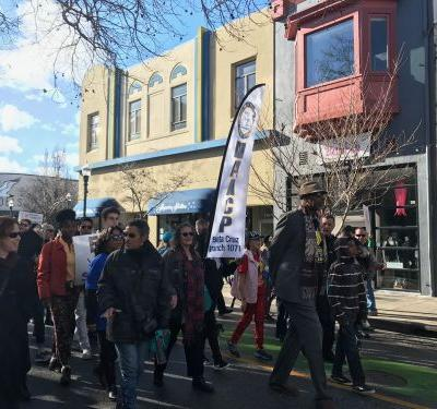 March For The Dream held in Santa Cruz to honor the legacy of Martin Luther King Jr