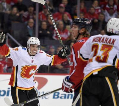 Gaudreau extends point streak to 10 as Flames beat Capitals