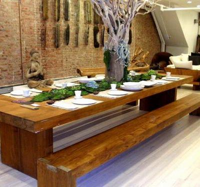 48 Inspirational Wood Dining Table with Bench Pictures