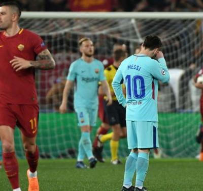 Calamitous Barcelona in ruins as Roma topple Messi's empire