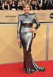 Allison Janney Wore Her Metallic SAG Awards Gown Like a Suit of Armor