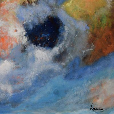 """Original Contemporary Abstract Seascape Painting """"Come Play With Me"""" by International Seascape Artist Arrachme"""