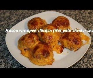 Bacon Wrapped Chicken Filet With Chester Cheese Recipe