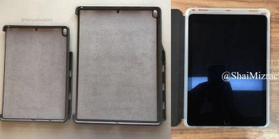Photos show cases for new 10.5-inch and 12.9-inch iPad Pro, with rear mic holes like $329 iPad