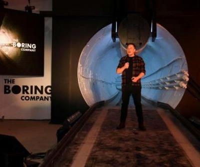 Elon Musk unveils Boring Company's first underground transit tunnel