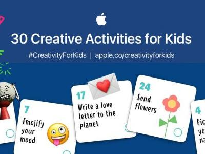Apple's education team publishes new '30 Creative Activities for Kids' worksheet