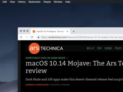 MacOS Mojave's dark mode is coming to Google Chrome