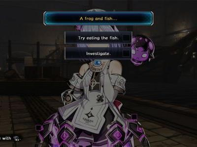 Death End re;Quest Try Eating The Fish Or Investigate