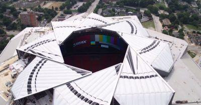This is the Aperture Roof on the Atlanta Falcon's New $1.6B Stadium