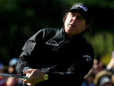 AT&T Pebble Beach Pro-Am: Phil Mickelson leads as final round continues Monday