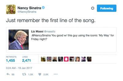'I Never Said That': Nancy Sinatra Calls Out CNN For Saying She's Unhappy With Trump Using 'My Way'