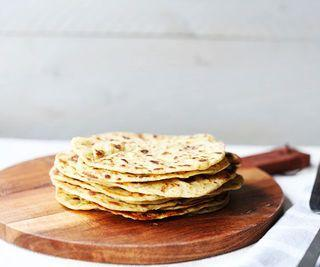 How to Make Garlic and Herb Chickpea Flatbread