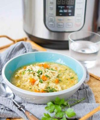 Chicken and Rice Soup {Instant Pot}