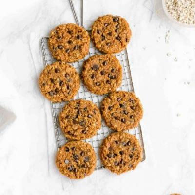 Flourless Pumpkin Oatmeal Cookies