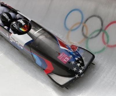 2018 Winter Olympics: Disappointing day for USA four-man bobsledders; medal chances slim