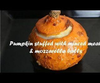 Pumpkin Stuffed With Minced Meat & Mozzarella Balls Recipe