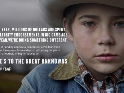 What Is The Great Unknowns Scholarship? Kia's 2019 Super Bowl Commercial Is Paying It Forward