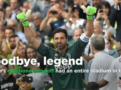 Gianluigi Buffon's sendoff from Juventus had the entire stadium in tears