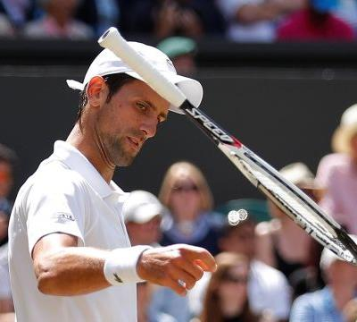 Novak Djokovic had a Wimbledon meltdown as he smashed his racket, argued with the umpire, then lost the next set