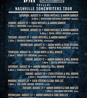 Events: BMI & The Ohio Craft Brewers Association Present: Nashville Songwriters Tour: Canton, OH
