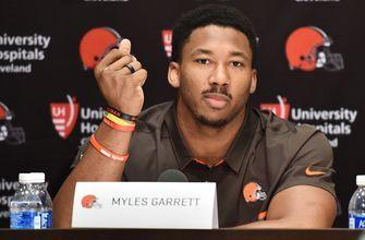 No. 1 overall pick Myles Garrett put his Cleveland Browns signing to music