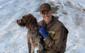 Heroic UPS Driver Rescues Drowning Dog From Frozen Pond