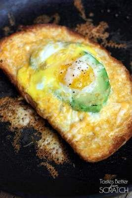 Avocado and Egg in a Hole