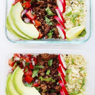 Beef Taco Meal Prep Bowls