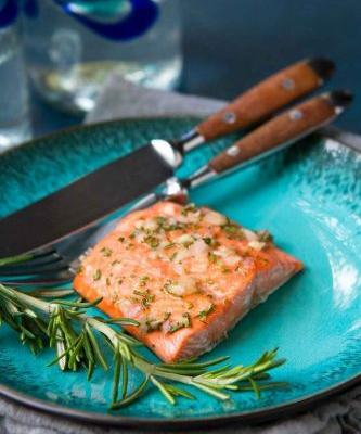 Broiled Rosemary Honey Salmon Recipe