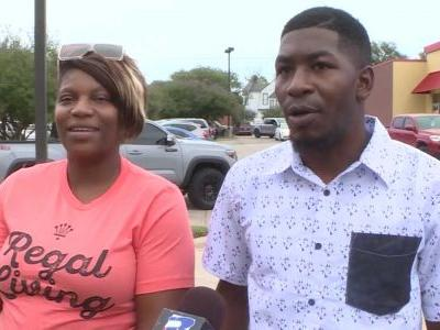 'My heart is really touched': George Floyd's children attend protest, denounce violence
