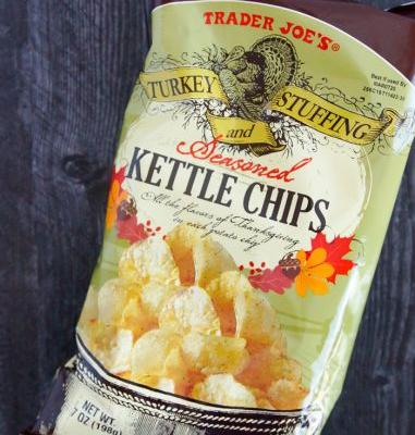Sweet on Trader Joe's Saturday: Turkey and Stuffing Kettle Chips