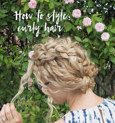How to style the front of curly hair - Tips and curly hair tutorials