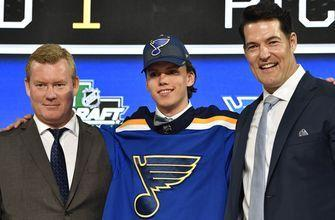 Blues sign first-round pick Bokk to three-year, entry-level contract