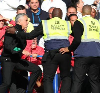 Mourinho goes crazy as member of Chelsea's backroom staff appears to celebrate Barkley goal in his face