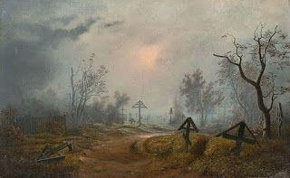 Carl Julius von Leypold, Clouds over a Russian graveyard