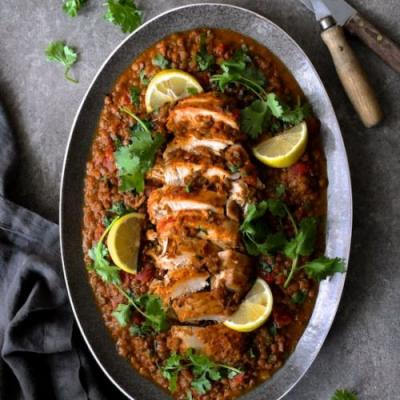 Slow-Cooker Moroccan Turkey Lentils