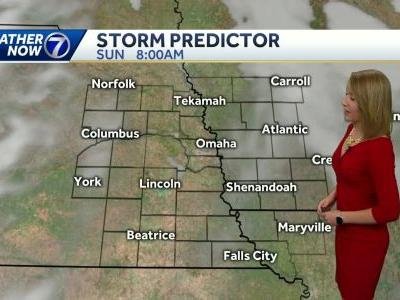 Sunshine and below average temperatures this weekend