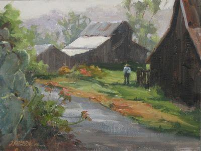 Morning -a plein air painting from historic Bumann Ranch