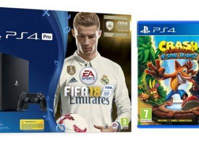 Get a PS4 Pro with FIFA 18 and Crash Trilogy for £299, add Call of Duty: WW2 for £31