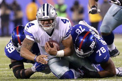 Giants hounded Prescott so much Jerry Jones got asked about Romo