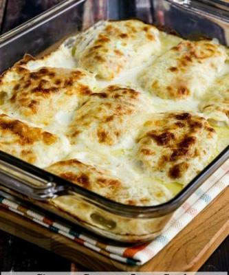 Cheesy Creamy Low-Carb Chicken Cordon Bleu Bake