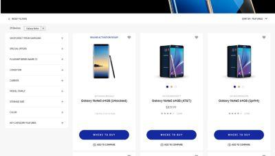 Galaxy Note 8 Surfaces On Samsung's U.S. Web Store