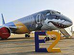 The Embraer 'Shark Profit Hunter' demo jet that's turning heads as it tours the world