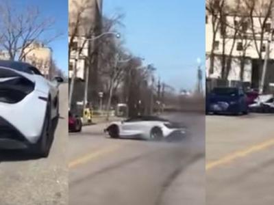 Watch A McLaren 720S Smash Into A Parked Audi R8