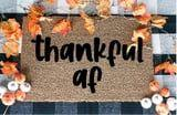 A Thanksgiving Doormat Is the Fall Finishing Touch Your Door Needs