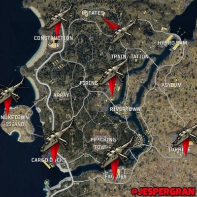 Call of Duty: Black Ops 4 Blackout - all helicopter locations